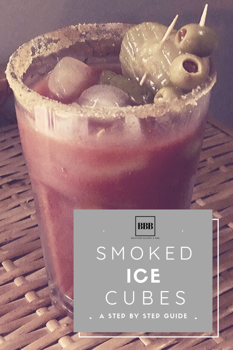 Smoked Ice Cubes with Bloody Marys